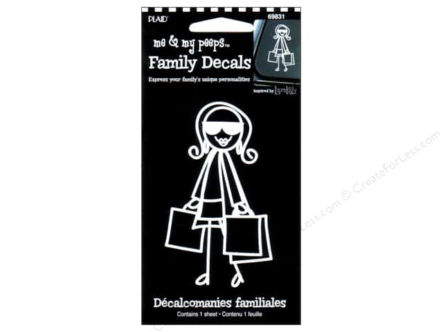 Plaid Peeps Family Decals Shopping Mom