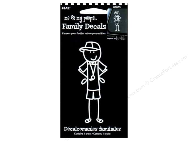 Plaid Peeps Family Decals Coaching Dad