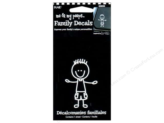 Plaid Peeps Family Decals Toddler Boy