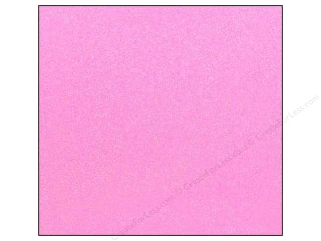 American Crafts 12 x 12 in. Cardstock Glitter Blush (15 sheets)