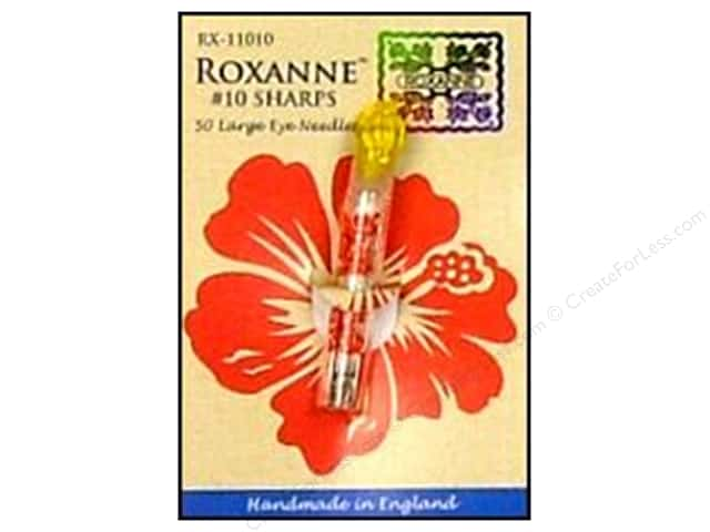 Roxanne Hand Needles Applique/Sharps Large Eye 50pc Size 10