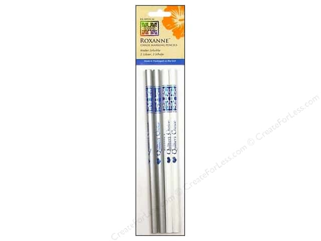 Roxanne Notions Quilters Choice Chalk Marking Pencils White/Silver 4pc