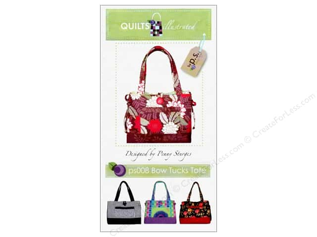 Quilts Illustrated Bow Tucks Tote Pattern