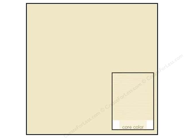Coredinations Cardstock 12 x 12 in. Core Ess Vanilla Cream (20 sheets)