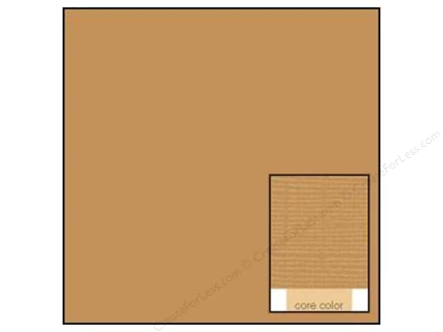 Coredinations Cardstock 12 x 12 in. Core Ess Chocolate Mousse (20 sheets)