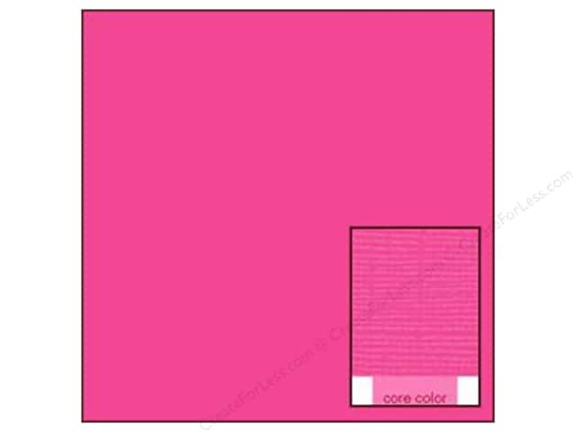 Coredinations Cardstock 12 x 12 in. Core Ess Fuchsia Fizz (20 sheets)