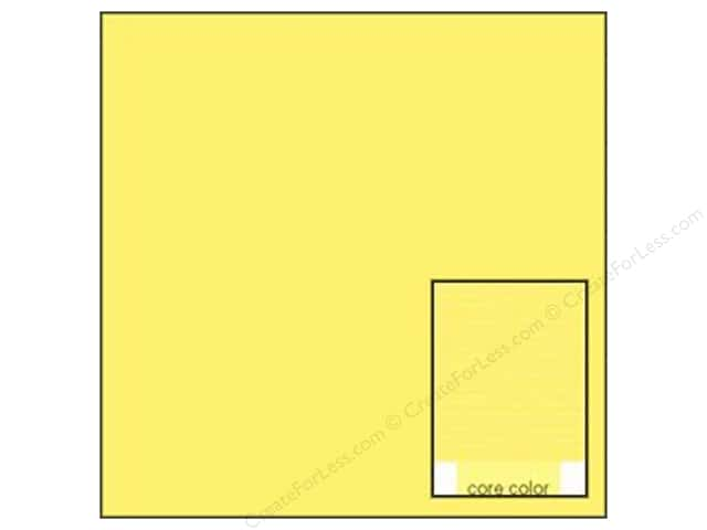 Coredinations Cardstock 12 x 12 in. Core Ess Buttercup (20 sheets)