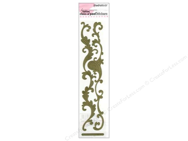 Stampendous Stickers Class A'Peel Border Scrollwork Forrest Green