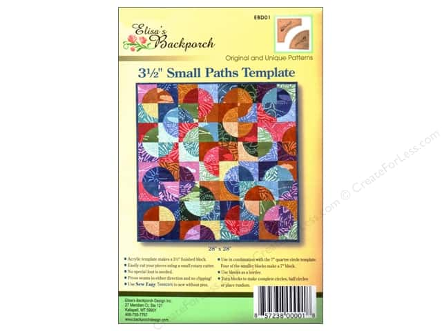 "Elisa's Backporch Template 3.5"" Small Paths"