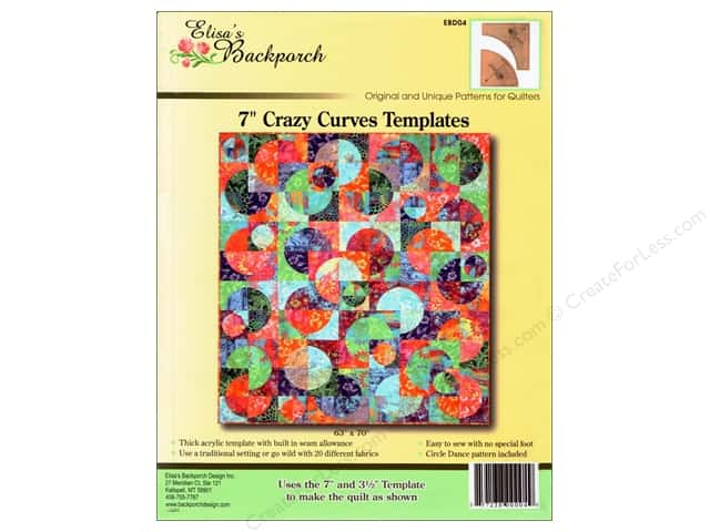 "Elisa's Backporch Template 7"" Crazy Curves"
