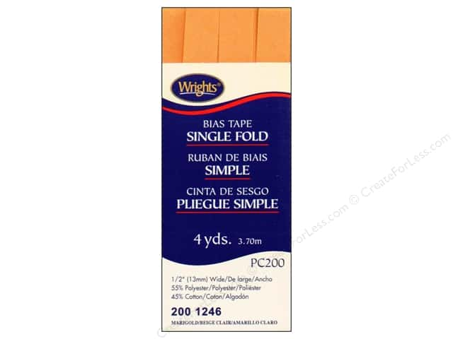 Wrights Single Fold Bias Tape 4 yd. Marigold