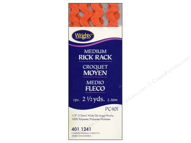 Wrights Rick Rack Medium 2 1/2 yd. Carrot