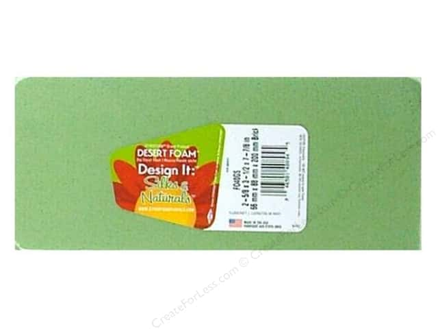 FloraCraft Desert Foam Brick 8 x 3 x 3 1/2 in. Green 1 pc.