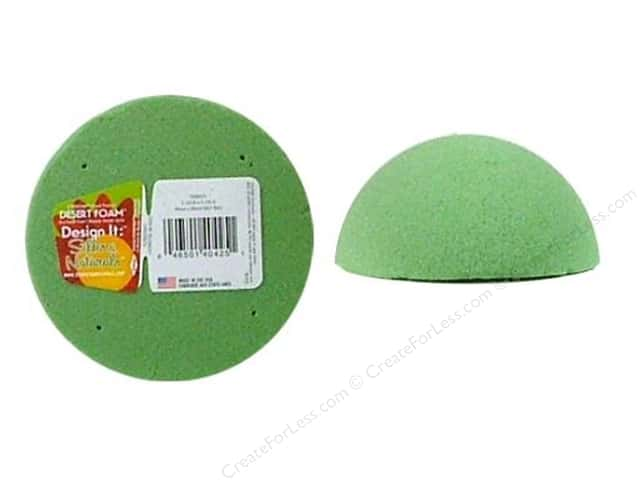 FloraCraft Desert Foam Arranger 1/2 Ball 4 in. Green 1 pc.