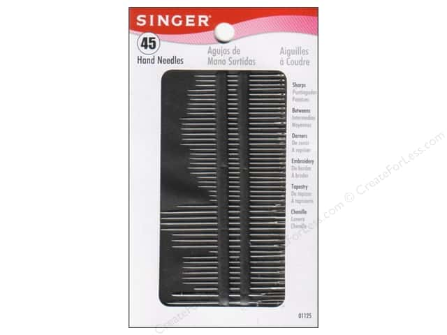 Singer Notions Hand Needle Assorted Size 45pc
