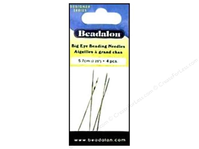 Beadalon Big Eye Beading Needles 2 1/4 in. 4 pc.