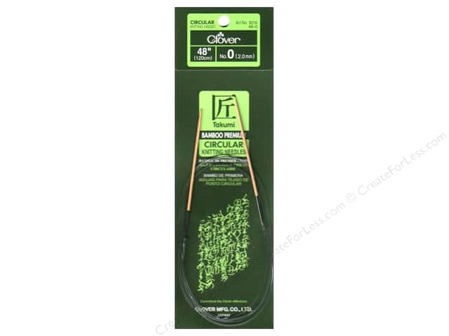 Clover Bamboo Circular Knitting Needles 48 in. Size 0 (2 mm)