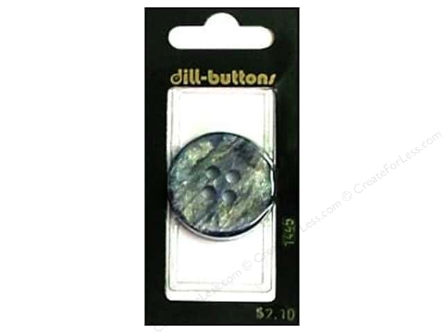 Dill 4 Hole Buttons 1 1/4 in. Blue #1445 1pc.