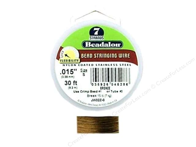 Beadalon Bead Wire 7 Strand .015 in. Bronze 30 ft.