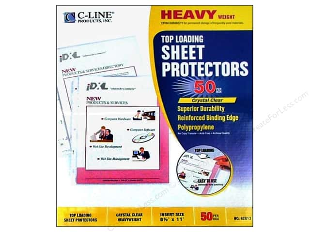C-Line Sheet Protector 8 1/2 x11 in. Top Load Heavy Weight (50 pieces)