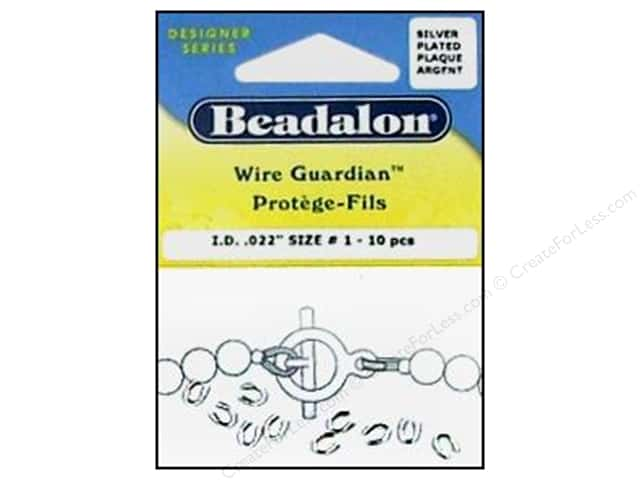 Beadalon Wire Guardian .022 in. Silver Plated 10pc