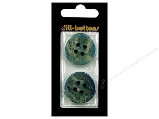 Dill 4 Hole Buttons 1 in. Blue #1444 2pc.