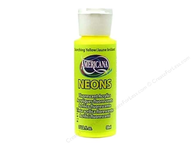 DecoArt Americana Neons Acrylic Paint 2 oz. #DHS1 Scorching Yellow