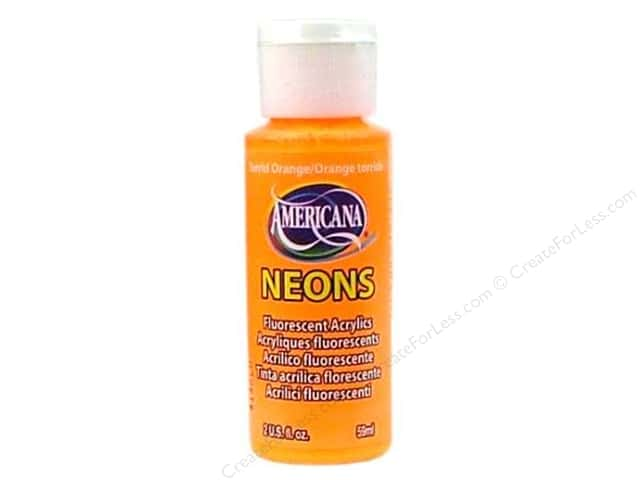 DecoArt Americana Neons Acrylic Paint 2 oz. #DHS02-3 Torrid Orange
