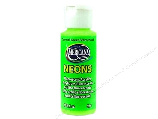 DecoArt Americana Neons Acrylic Paint 2 oz. #DHS5 Thermal Green