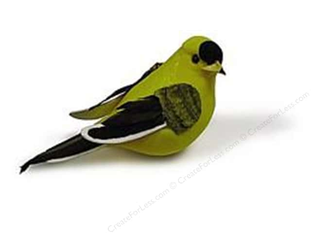 Midwest Design Artificial Birds 4 in. Goldfinch 1 pc.