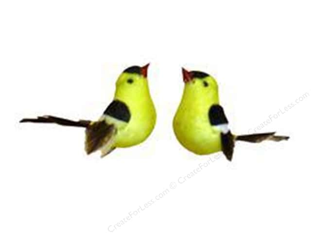 Midwest Design Artificial Birds 1 1/4 in. Feather Goldfinch 2 pc.