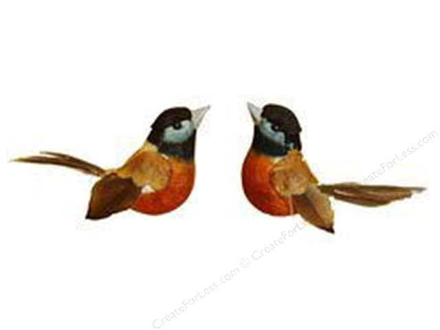 Midwest Design Artificial Birds 1 1/4 in. Robin Feather  2 pc.