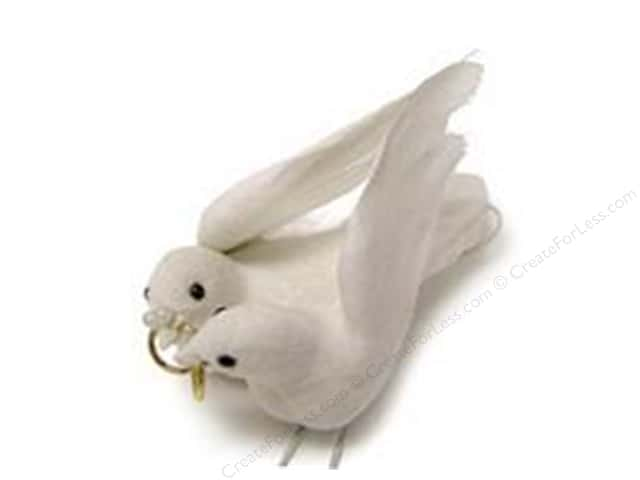 Midwest Design Artificial Birds 3 in. Feather Wedding Dove Couple 1 pc.