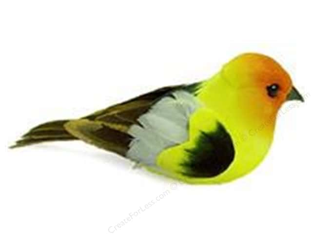 Midwest Design Artificial Birds 5 in. Orange/Yellow/Black Feather 1 pc.