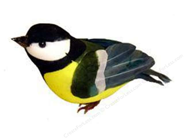 Midwest Design Artificial Birds 5 1/2 in. Titmouse Feather 1 pc.