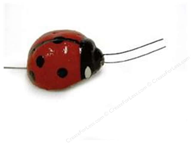 "Midwest Design Insects .75"" Ladybug Plastic Red 4pc"