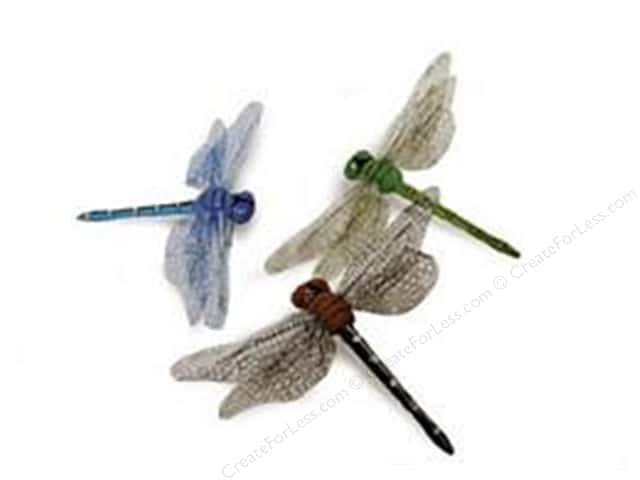 "Midwest Design Insects Dragonfly 3.5"" Assorted 2pc"