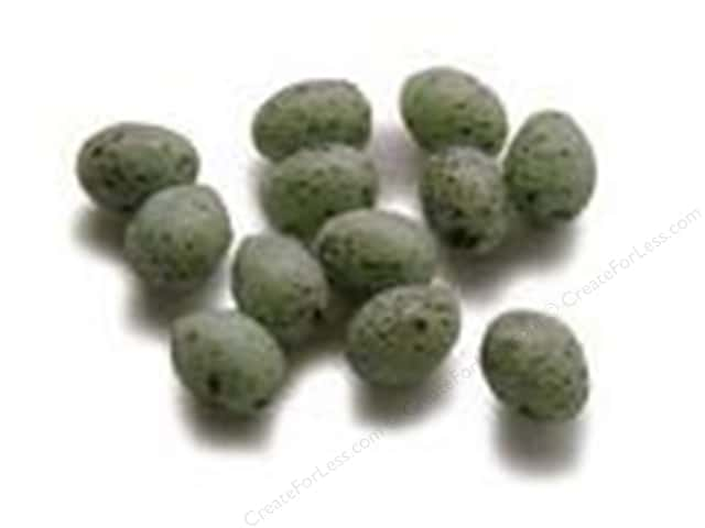 Midwest Design Artificial Bird Eggs 1/4 in. Speckled Green 12 pc.