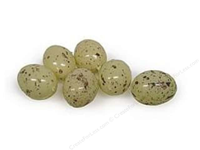 Midwest Design Artificial Bird Eggs 1 in. Speckled Beige 6 pc.
