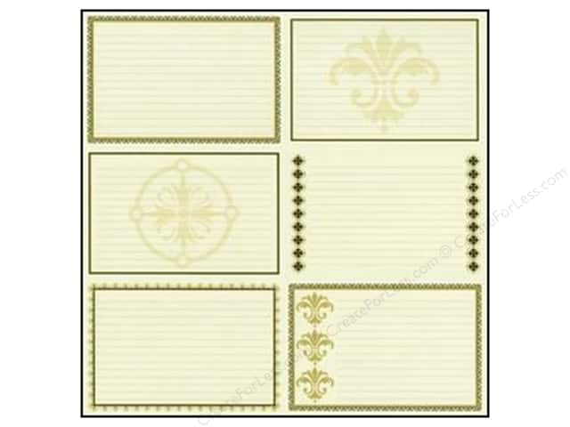 Bazzill 12 x 12 in. Paper Heritage Note Cards Horizontal 15 pc.