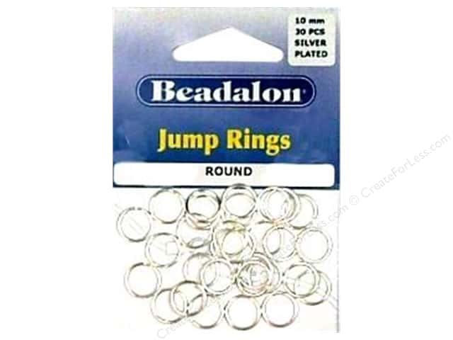 Beadalon Jump Rings 10 mm Silver 30 pc.
