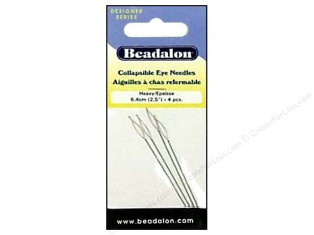 Beadalon Collapsible Eye Beading Needle  2 1/2 in. Heavy 4 pc.