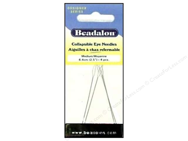 Beadalon Collapsible Eye Beading Needle  2 1/2 in. Medium 4 pc.