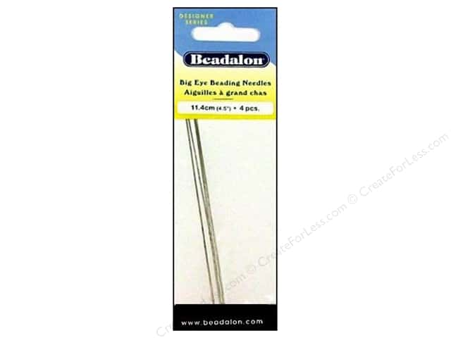 Beadalon Big Eye Beading Needles 4 1/2 in. 4 pc.