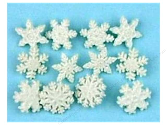 Jesse James Dress It Up Embellishments Glitter Snowflakes