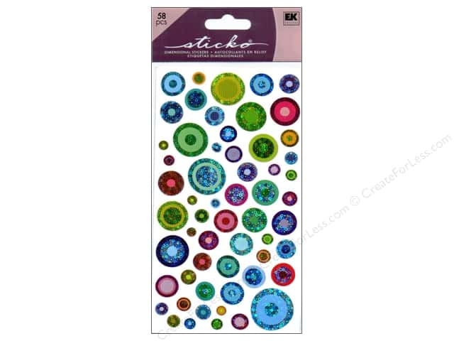 EK Sticko Stickers Color Bubbles