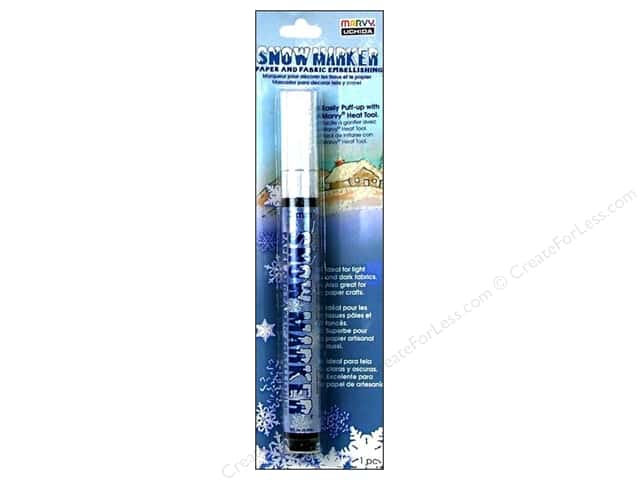 Uchida Snow Marker 3mm Paper/Fabric Carded