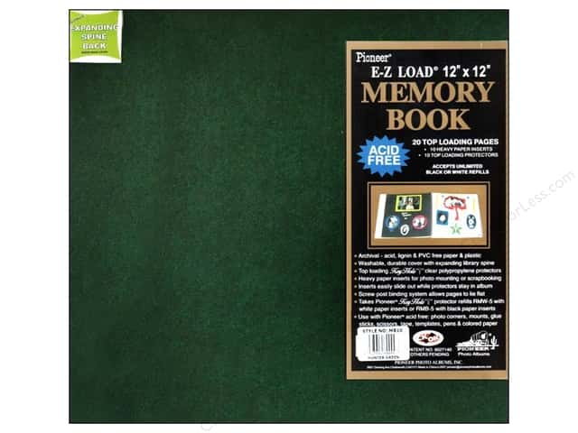 Pioneer Scrapbook Album 12 x 12 in. Leatherette Hunter Green