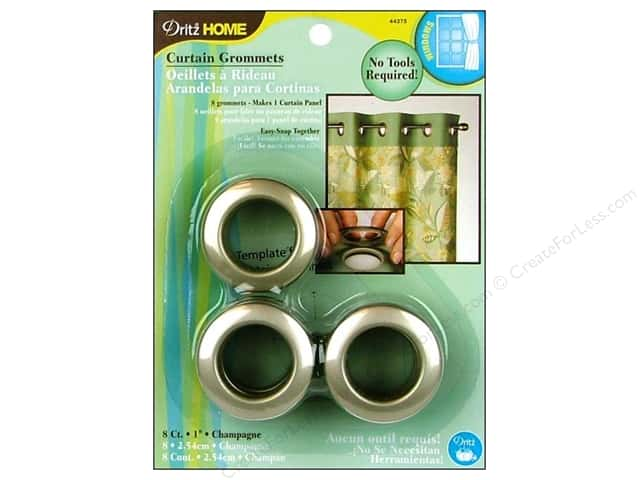 Dritz Home Curtain Grommets 1 in. Round Champagne 8pc
