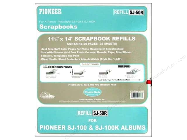 "Pioneer Refill Page Scrapbook 11.75""x 14"" Buff 25pc"